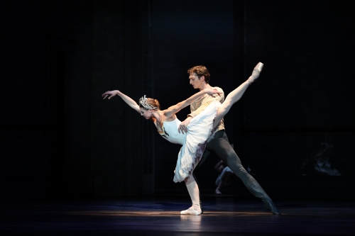 Principal Dancer Zachary Hench and Principal Dancer Lauren Fadeley in Christopher Wheeldon's 'Swan Lake.'