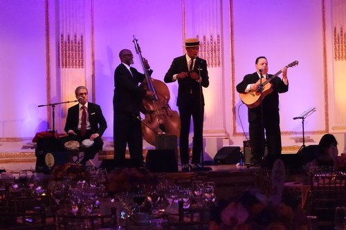 Grupo Irék performs at the Ballet Hispanico 2015 Spring Gala.