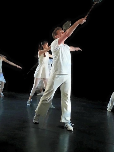 Louise Reichlin & Dancers in Louise Reichlin's 'The Tennis Dances.'