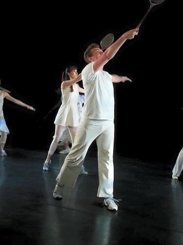 Louise Reichlin & Dancers in Louise Reichlin's 'The Tennis Dances.'