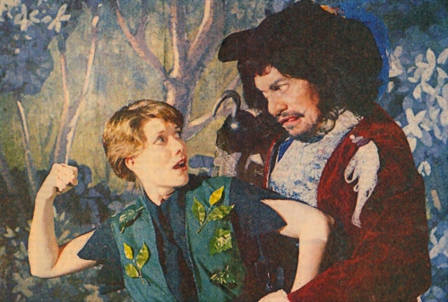 Suzanne Stark (left) plays the role of Peter Pan with Bernard Wurger as Captain Hook in Civic's 1984 production of the show. Suanne plays Mrs. Darling in Beef & Boards Dinner Theatre's current production of Peter Pan, on stage through July 3. Featuring $10 discounts off regularly-priced tickets for all children ages 3-15, this show also includes Chef Odell Ward's family-friendly dinner buffet and select beverages. For reservations, call the box office at 317.872.9664. For more information, including show schedule, visit beefandboards.com.