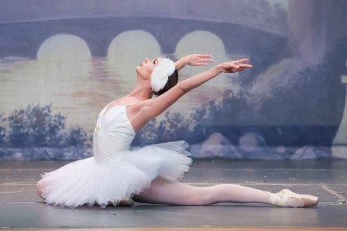 Janet Strukely-Dziak as Odette in Olmsted Performing Arts' 'Swan Lake.'