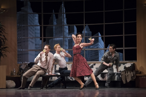 The Royal Ballet's Bennet Gartside, Steven McRae, Laura Morera, Tristan Dyer in Liam Scarlett's 'The Age of Anxiety.'