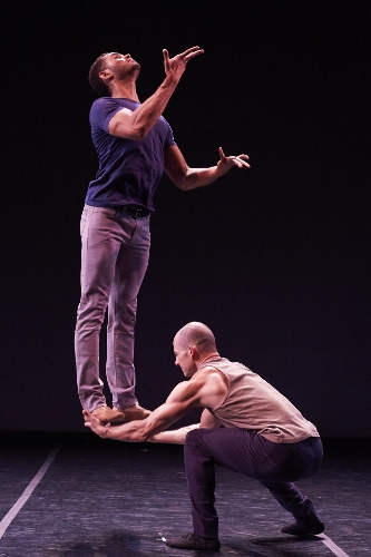 Dancers James Gilmore and Brandon Freeman.
