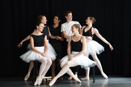 Cleveland Ballet company members. Clockwise: Kathryn Tokar, Lauren Stenroos, Victor Jarvis, Luke Potgieter, Elizabeth Pantuso and Madeline Taylor.