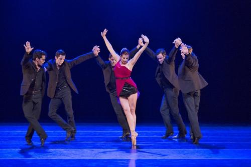 BalletMet's Olivia Clark (center) and dancers in James Kudelka's 'Girls Just Wanna Have Fun.'