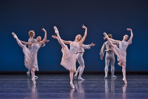 BalletMet dancers in George Balanchine's 'Allegro Brilliante.'
