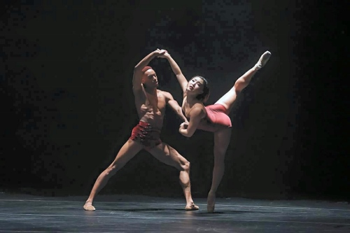 Complexion dancers Addison Ector and Youngsil Kim in Dwight Rhoden's<br>'Ballad Unto&#8230;'