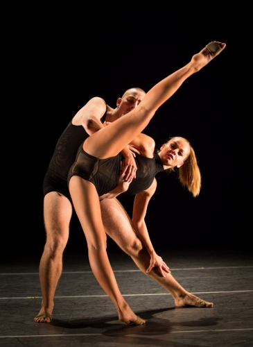 "Dancers János Feledi and Zita Horvath in Feledi's ""Breathing Together."""