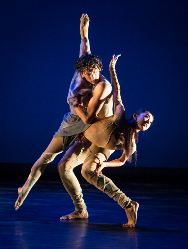 Dancers So Young An and Juan Rodriguez in Jacqulyn Buglisi's 'Sacred Landscapes, Episode One.""