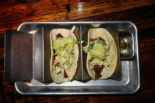 Beef Tacos at Linger<br>(Someone snagged one before I managed to take a photo.)