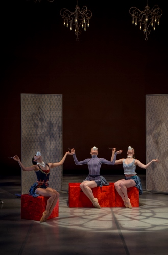 [L-R] Grand Rapids Ballet dancers Yuka Oba, Dawnell Dryja and Cassify Isaacson in Annabelle Lopez Ochoa's 'Dangerous Liaisons.'