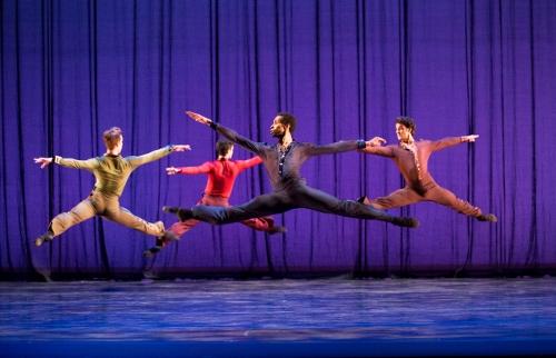 Pennsylvania Ballet Principal Dancer Arian Molina Soca in Christopher Wheeldon's 'For Four.'
