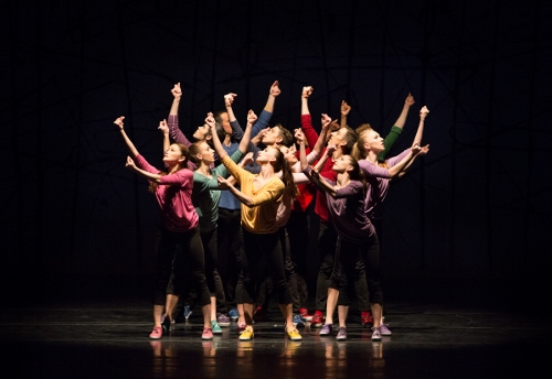 Artists of Pennsylvania Ballet in Jerome Robbins' 'NY Export: Opus Jazz.'