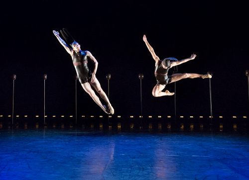 BalletX dancers Zachary Kapeluck and Richard Villaverde in Trey McIntyre's 'Big Ones.'