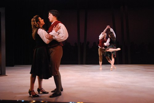 Hilda Ramos and Arthur Shen singing, as Ashley Tuttle and Benjamin Bowman dances the roles.