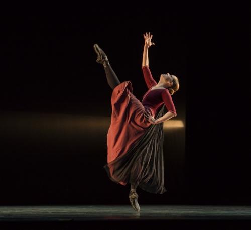 "Verb Ballets' Megan Buckley in Heinz Poll's ""Elegiac Song."""