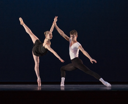 Verb Ballets' Lieneke Matte and Michael Hinton in Heinz Poll's 'Duet.'