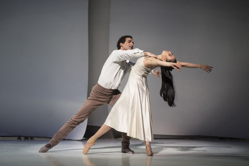 Gabriele Corrado as the Father and Mimoza Koike as the Mother in Jean Christophe Maillot's 'Cinderella.'
