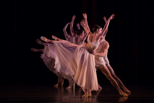 "BalletMet dancers in Edwaard Liang's ""Age of Innocence."""