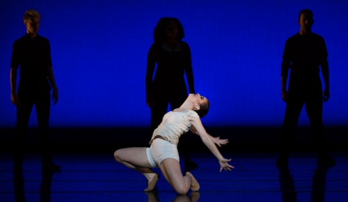 "Cincinnati Ballet's Sarah Hairston in Trey McIntyre's ""Wild Sweet Love."""