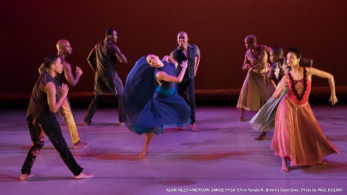 Alvin Ailey American Dance Theater dancers in Ronald K. Browns' 'Open Door.'