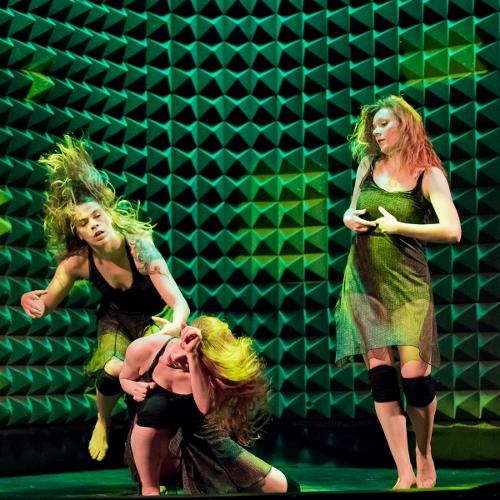 Pictured L-R: Caitlyn Johansen, Emily McDaniel, Dexter Carlson