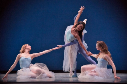 (L-R) Cara Hansvick, Colin Ellis, Imani Sailers and Raffaella Stroik in George Balanchine's 'Serenade.'