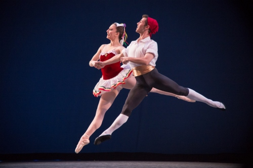 Danielle Cesanek and Tyler Dowdy in George Balanchine's 'Tarantella.'