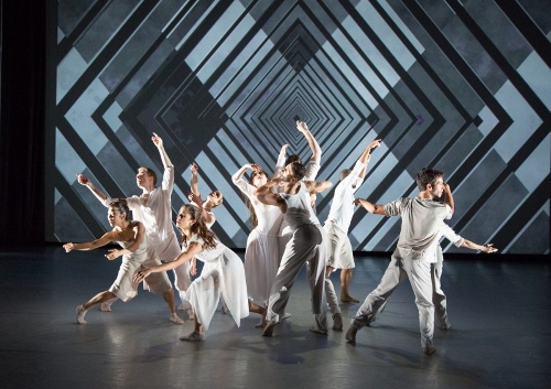 "BalletX dancers in Matthew Neenan's ""Identity Without Attribute."""
