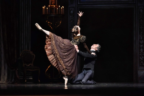 "SF Ballet's Maris Kochetkova and Vitor Luiz in John Cranko's ""Eugene Onegin."""