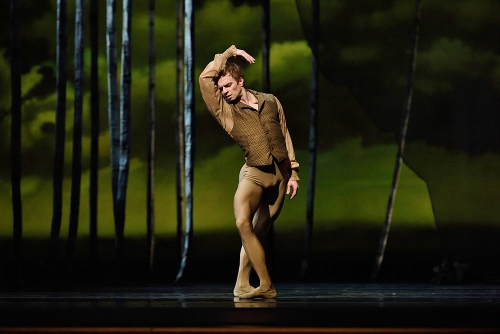 """SF Ballet's Gennadi Nedvifin as Lensky in John Cranko's """"Eugene Onegin."""""""