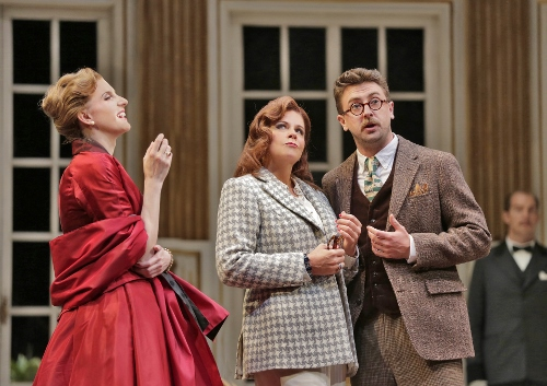 Amanda Majeski (The Countess), Susan Graham (Clairon), and Ben Bliss (Flamand) in 'Capriccio.'