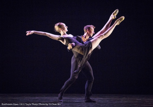 Dancers Matthew Dibble and Kaitlyn Gilliland in Twyla Tharp's 'Beethoven Opus 130.'