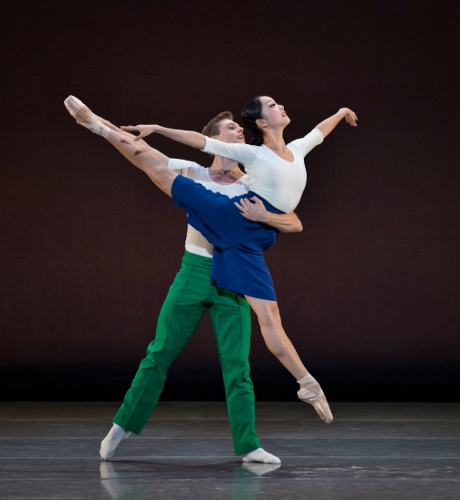James Cunningham and Sirui Liu in Justin Peck's 'Capricious Maneuvers.'