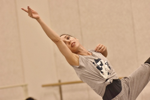 GroundWorks DanceTheater's Felise Bagley rehearses choreographer Robyn Mineko Williams' new work 'Part Way.'