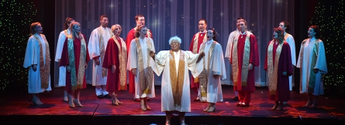 "Kendra Lynn Lucas performs the show stopping ""O Holy Night"" in A Beef & Boards Christmas, now on stage through Dec. 23."