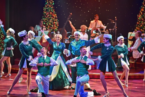"The cast performs ""Over the River"" to open A Beef & Boards Christmas, now on stage through Dec. 23."