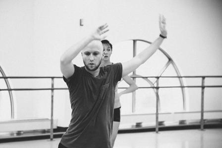 Colby Damon with BalletX's Caili Quan.
