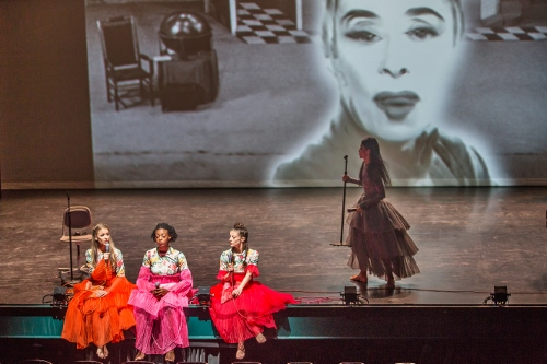 "(L to R) Anne O'Donnell, Leslie Andrea Williams, Laurel Dalley Smith, and Xin Ying in Annie-B Parson's ""I used to love you."""