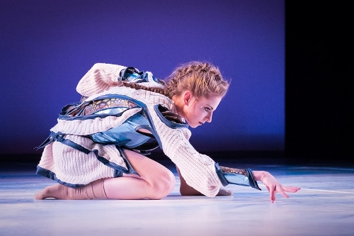 Grand Rapids Ballet's Grace Haskins in Robert Dekkers and Vanessa Thiessen 'Dear Light Along the Way to Nothingness.'
