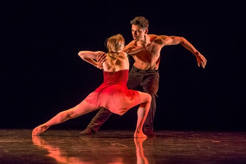 "Grand Rapids Ballet's Cassidy Isaacson and Matthew Wenckowski in Robyn Mineko Williams' ""Glean."""