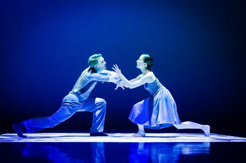 Grand Rapids Ballet's Steven Houser and Yuka Oba in Penny Saunders' 'In Frame.'