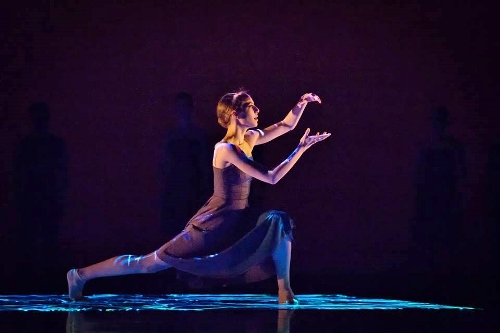 Grand Rapids Ballet's Caroline Wiley in Penny Saunders' 'In Frame.'