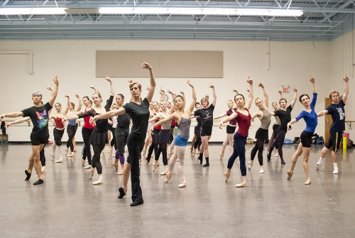 Patricia Barker in the studio with Grand Rapids Ballet.