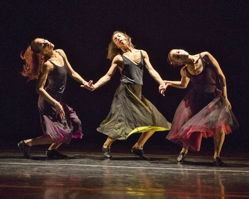 "Malpaso dancers in Trey McIntyre's ""Under Fire."""