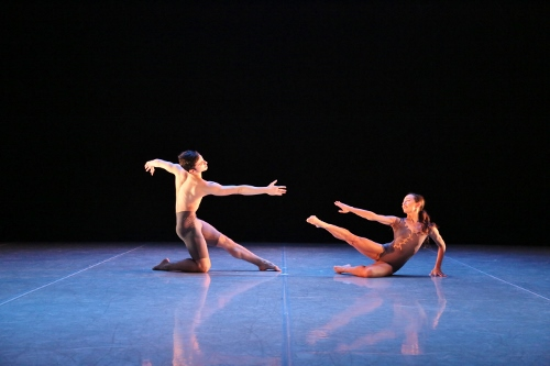 Carley Marholin and Giacomo Bavutti in Martha Graham's Stars duet from 'Canticle for Innocent Comedians'