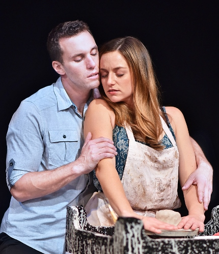 Pottery Wheel: Molly (Andrea Laxton) feels the presence of Sam (Eddie Egan), whose spirit is unable to leave until Molly is protected from those who took his life in Ghost, The Musical, now on stage at Beef & Boards Dinner Theatre. Based on the hit 1990 film, this Broadway adaptation is making its debut at Beef & Boards, and is on stage through Nov. 18. Tickets include Chef Odell Ward's dinner buffet. For reservations, contact the box office at 317.872.9664. For more information and show schedule, visit beefandboards.com. This show is rated PG-13.