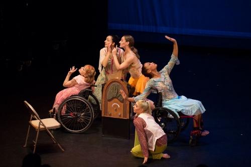 Dancing Wheels dancers in Dianne McIntyre's 'Sweet Radio Radicals' (2008).