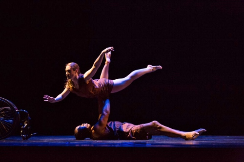 Dance Wheels dancers Demarco Sleeper and Sara Lawrence-Sucato in Catherine Meredith's 'Incommunicado' (2015).